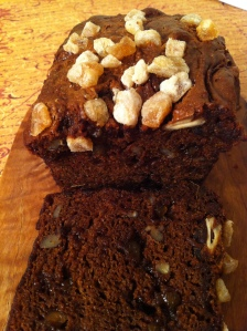 Pumpkin Bread with Candied Ginger and Pecans